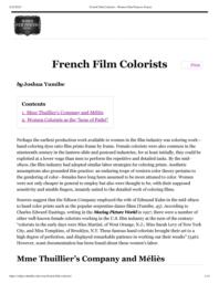 thumnail for French Film Colorists – Women Film Pioneers Project.pdf