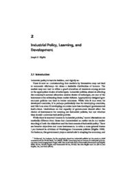 thumnail for Industrial Policy, Learning and Development.pdf