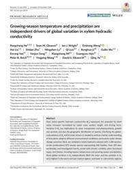 thumnail for He et al. - 2020 - Growing‐season temperature and precipitation are i.pdf