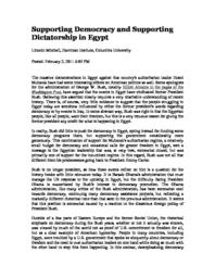 thumnail for Supporting_Democracy_and_Supporting_Dictatorship_in_Egypt.pdf