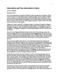 thumnail for Intervention_and_Non-Intervention_in_Syria.pdf
