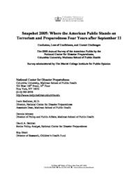 thumnail for Snapshot_2005_Four_Years_After_Sept_11.pdf