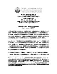 thumnail for c_No_85_-_Sauvant_and_Chen_-_FINAL_-_CHINESE_version.pdf