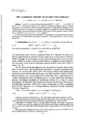 thumnail for Traub__algebraic_theory_of_matrix_polynomials.pdf
