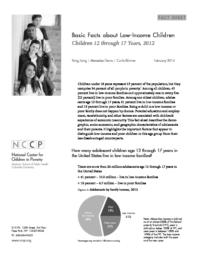 thumnail for Basic_Facts__Children_12_through_17__2012.pdf