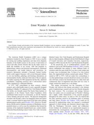 thumnail for Stellman_2006_WynderRemembrance.pdf