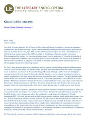 thumnail for Giusto_Lo_Dico_by_Jo_Ann_Cavallo_from_the_Literary_Encyclopedia_22-01-2012.pdf