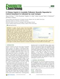 A Chinese Imprint in Insoluble Pollutants Recently Deposited
