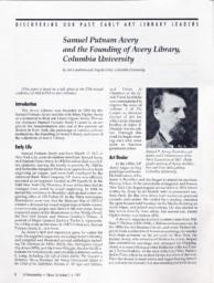 thumnail for Samuel_Putnam_Avery_and_the_Founding_of_Avery_Library.pdf