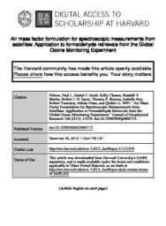 thumnail for Air_mass_factor_formulation_for_spectroscopic_measurements_from_satellites-_Application_to_formaldehyde_retrievals_from_the_Global_Ozone_Monitoring_Experiment.pdf