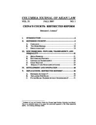 thumnail for Chinas_Courts-Restricted_Reform.pdf