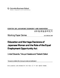 thumnail for WP_346.Edwards_et_al.Education_and_Marriage_Decisions_of_Japanese_Women.pdf