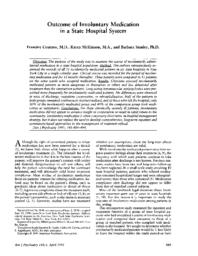 thumnail for Outcome of involuntary medication in a state hospital system.pdf