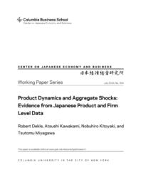 thumnail for WP_354.Dekle_et_al.Product_Dynamics_and_Aggregate_Shocks.pdf