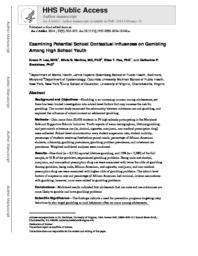 thumnail for Lee_Examining potential school contextual influences on gambling among high school youth.pdf