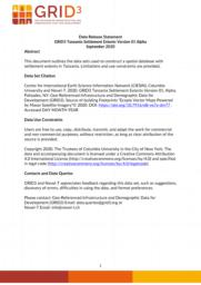 thumnail for Data Release Statement GRID3 TZA Settlement Extents V1 Alpha.pdf