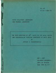 thumnail for 1957 Arthur Schwarzschild PhD Dissertation - THE BETA-SPECTRUM OF HELIUM-6.pdf