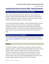 thumnail for Institutional Review Board (IRB)_ Getting Started.pdf