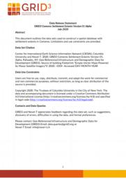 thumnail for Data Release Statement GRID3 COM Settlement Extents V1 Alpha.pdf