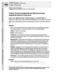 thumnail for Lee_Parental monitoring trajectories and gambling among a longitudinal cohort of urban youth.pdf