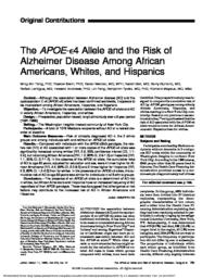 thumnail for Tang-1998-The APOE-epsilon4 allele and the ris.pdf