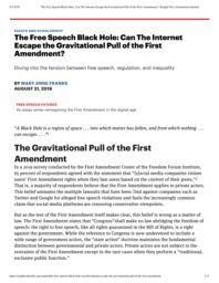 thumnail for TheFreeSpeechBlackHole_CanTheInternetEscapetheGravitationalPulloftheFirstAmendment_KnightFirstAmendmentInstitute.pdf