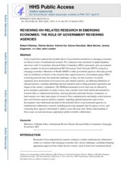 thumnail for Klitzman_Reviewing HIV-Related Research in Emerging Economies.pdf