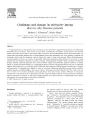 thumnail for Klitzman_Challenges and changes in spirituality among doctors who become patients.pdf