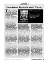 thumnail for R Webb - How Agency Science Is Under Threat - Aug. 2020 (3).pdf