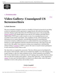 thumnail for Video Gallery_ Unassigned US Screenwriters – Women Film Pioneers Project.pdf