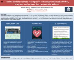 thumnail for Marquart_Online student wellness_poster for NSWM 2018.pdf