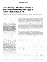 thumnail for 2014 Efficacy of a savingsled microfinance intervention final 2015.pdf