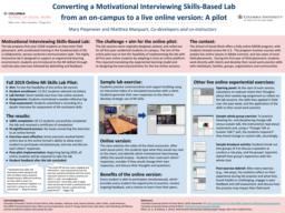 thumnail for Piepmeier and Marquart_Converting a Motivational Interviewing Skills-Based Lab from an on-campus version to a live online version_CTL Symposium 2020.pdf