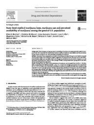 thumnail for Martins_State-level medical marijuana laws, marijuana use and perceived availability of marijuana among the general U.S. population..pdf