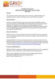 thumnail for Data Release Statement GRID3 LBR Settlement Extents V1 Alpha.pdf