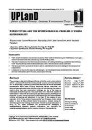 thumnail for De Castro Albir Lemaitre 2017 Retrofitting epistemological problem urban sustainability.pdf