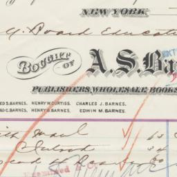 A.S. Barnes & Co. Bill or r...
