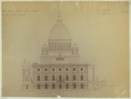 Design for the Rhode Island State House, East Elevation. McKim, Mead and White, Architects