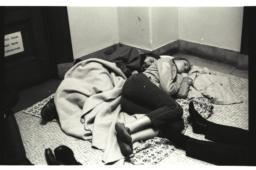 Students sleeping in Fayerweather