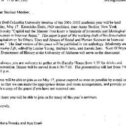 Announcements, 2002-05-17. ...