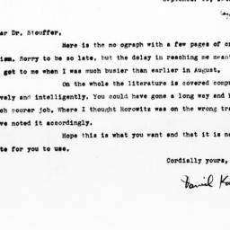 Letter from Daniel Katz to ...