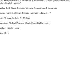 Minutes, 2014-01-30. Eighte...