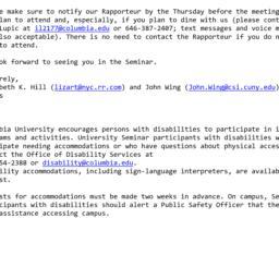 Announcements, 2012-12-11. ...