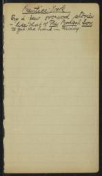 500 Word Stories, undated : autograph manuscript notes