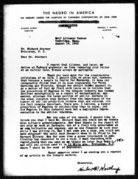 Letter from Herbert R. Northrup to Richard Sterner, August 19, 1942