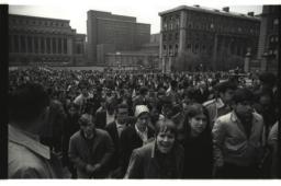 April 23, 1968 Crowd Sundial Rally
