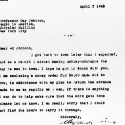 Letter from Alexander Lesse...