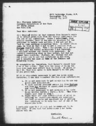 Letter from Arnold M. Rose to Florence Anderson, January 29, 1943