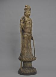 The Bodhisattva Guanyin Standing on a Lotus Pedestal, Right 3/4