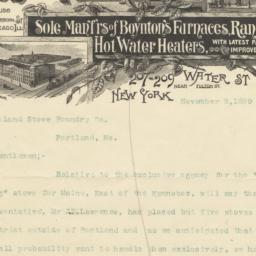 Boynton Furnace Co. letter